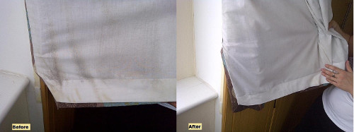 Curtain Before After Cleaning