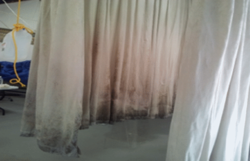 Curtains Before Cleaning
