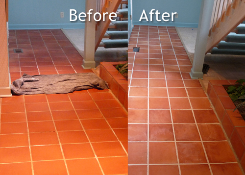 Tile Cleaning Before After